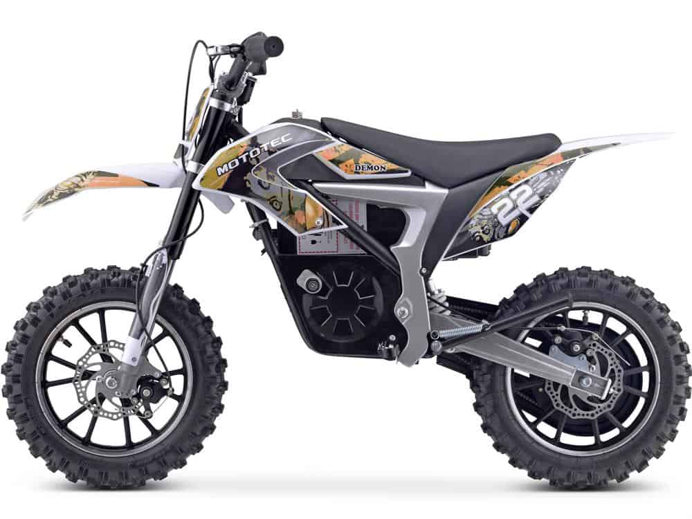 MotoTec 36v 500w Demon Electric Dirt Bike Lithium Orange_3