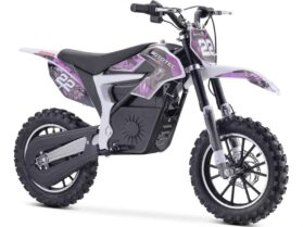 MotoTec 36v 500w Demon Electric Dirt Bike Lithium Purple