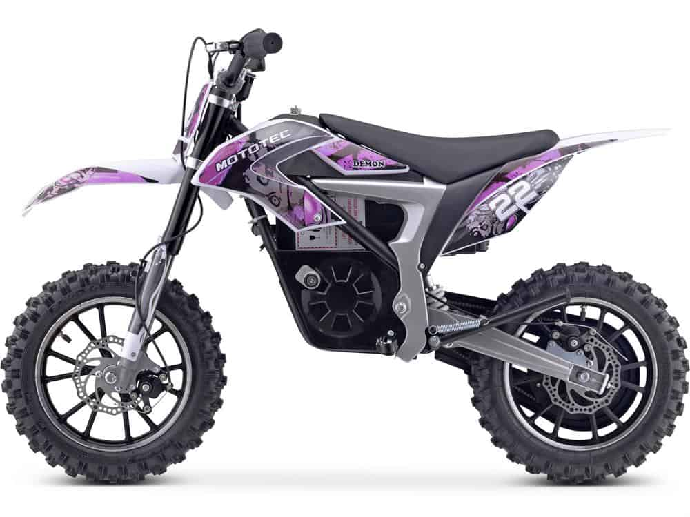 MotoTec 36v 500w Demon Electric Dirt Bike Lithium Purple_3