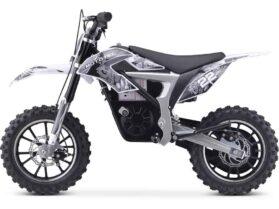 MotoTec 36v 500w Demon Electric Dirt Bike Lithium White_3