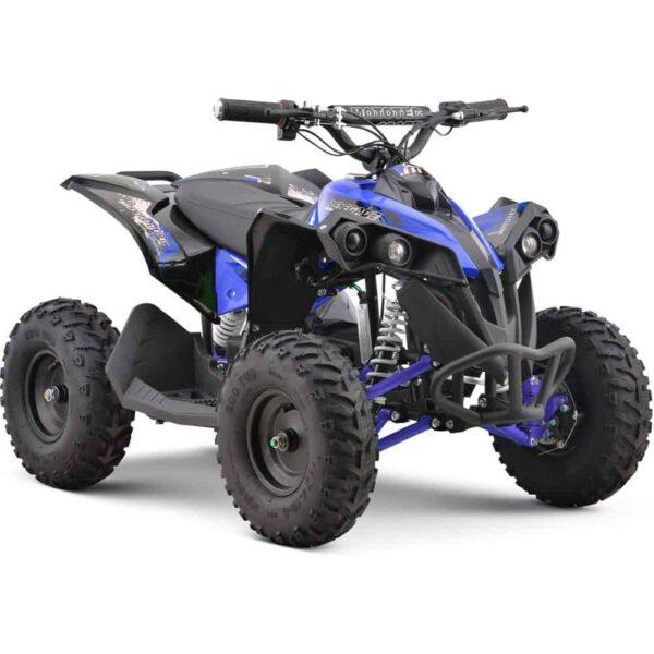 MotoTec 36v 500w Renegade Shaft Drive Kids ATV Blue