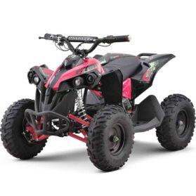 MotoTec 36v 500w Renegade Shaft Drive Kids ATV Pink_2