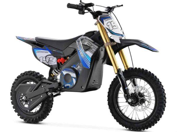 MotoTec 36v Pro Electric Dirt Bike 1000w Lithium Blue