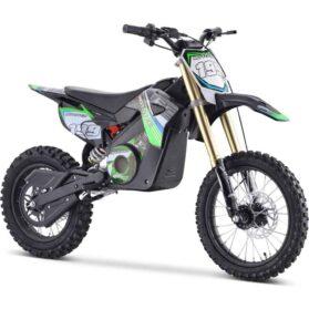 MotoTec 48v Pro Electric Dirt Bike 1500w Lithium Green