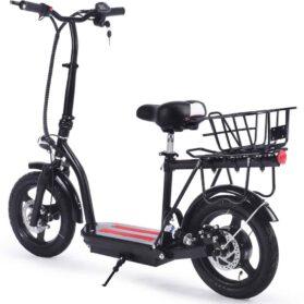 MotoTec Cruiser 48v 350w Lithium Electric Scooter Black_4