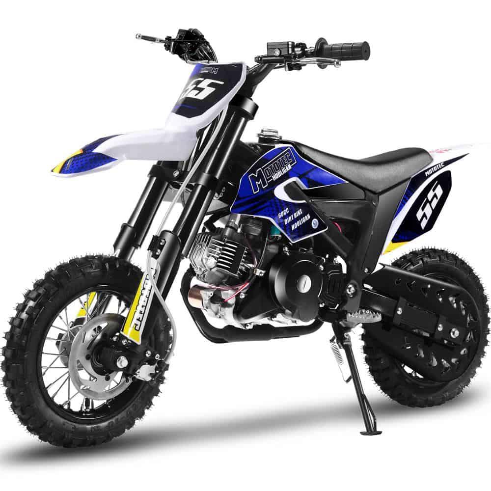 MotoTec Hooligan 60cc 4-Stroke Gas Dirt Bike Black_6