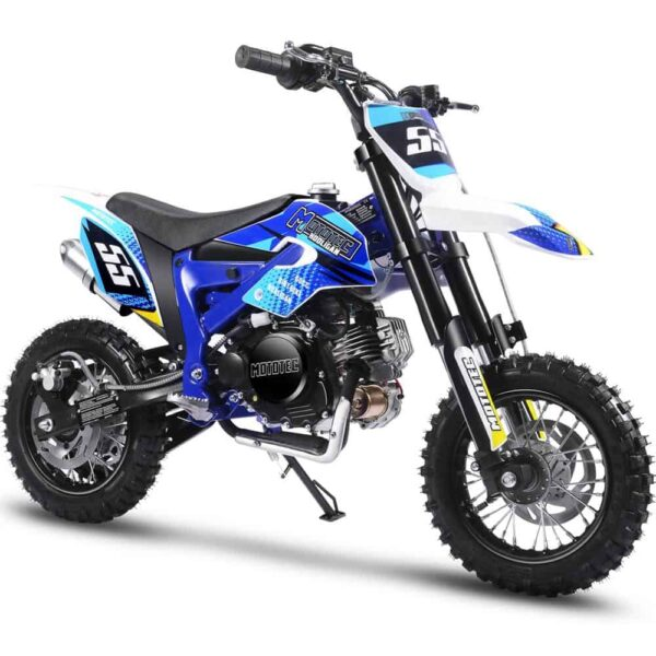 MotoTec Hooligan 60cc 4-Stroke Gas Dirt Bike Blue
