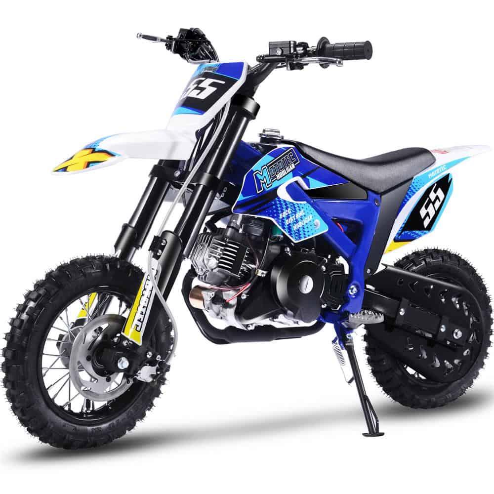 MotoTec Hooligan 60cc 4-Stroke Gas Dirt Bike Blue_6