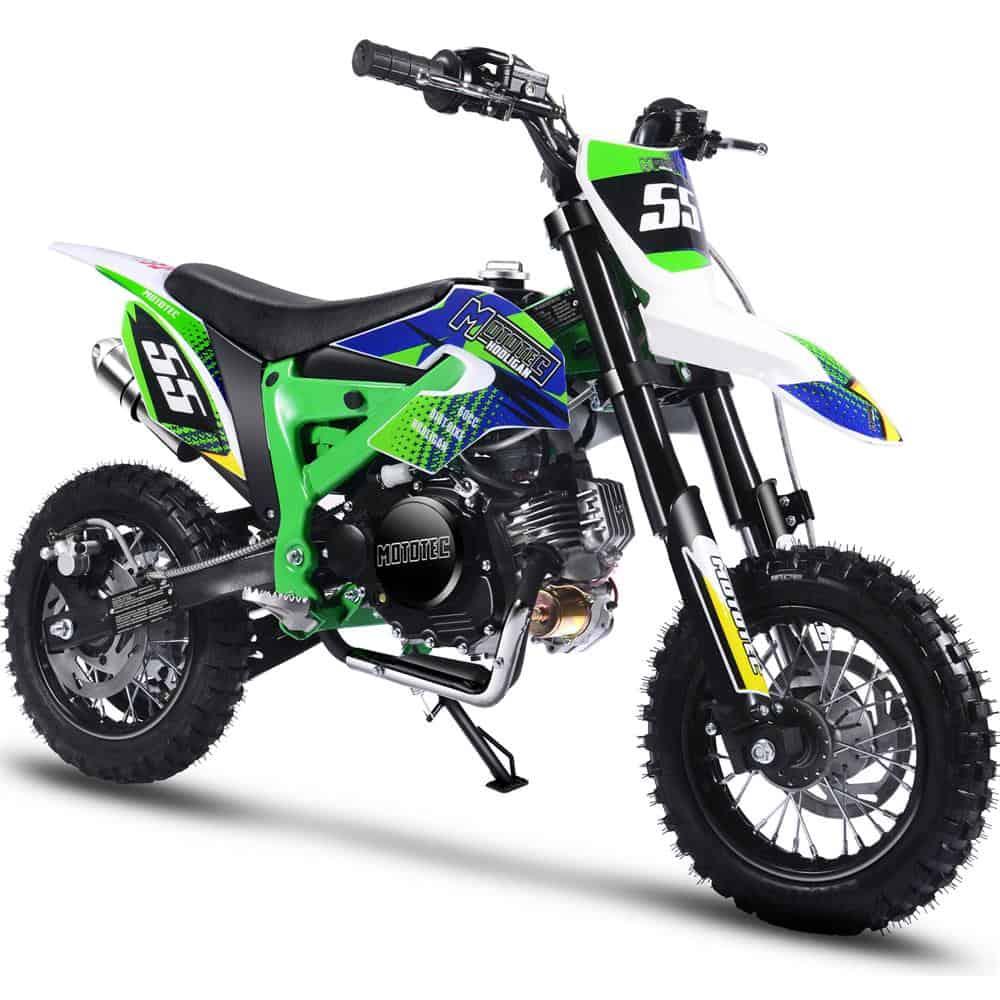 MotoTec Hooligan 60cc 4-Stroke Gas Dirt Bike Green