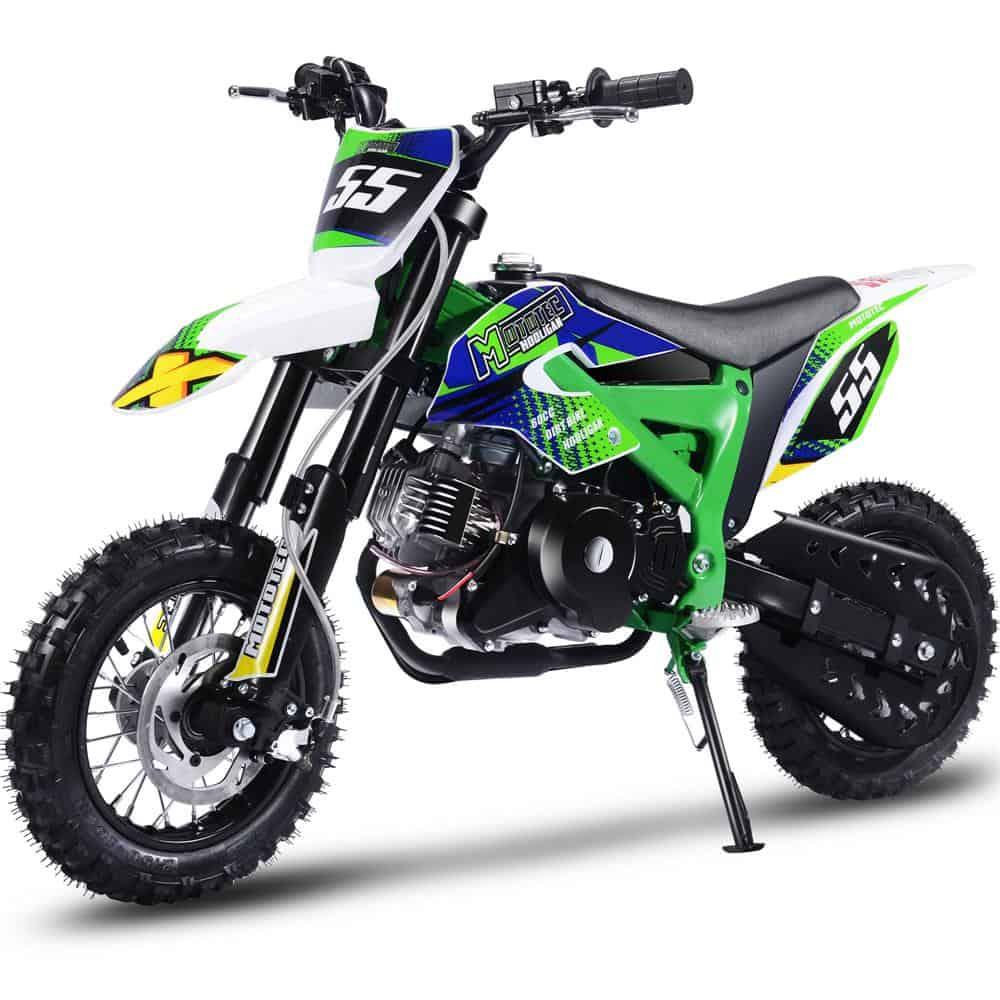 MotoTec Hooligan 60cc 4-Stroke Gas Dirt Bike Green_6