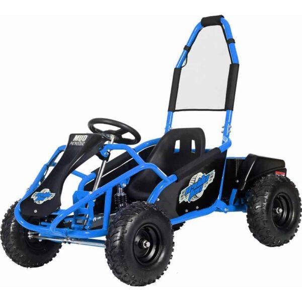 MotoTec Mud Monster Kids Electric 48v 1000w Go Kart Full Suspension Blue