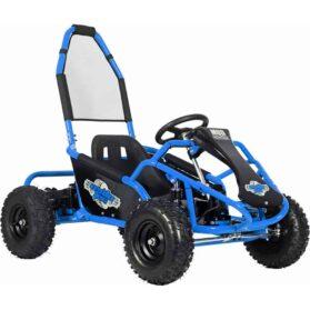 MotoTec Mud Monster Kids Electric 48v 1000w Go Kart Full Suspension Blue_2