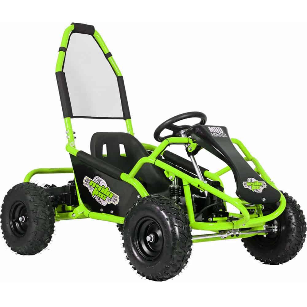 MotoTec Mud Monster Kids Electric 48v 1000w Go Kart Full Suspension Green_2