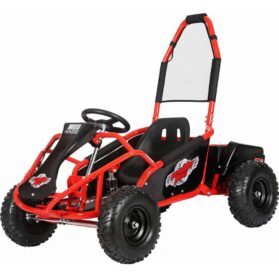 MotoTec Mud Monster Kids Electric 48v 1000w Go Kart Full Suspension Red