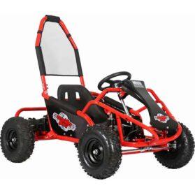 MotoTec Mud Monster Kids Electric 48v 1000w Go Kart Full Suspension Red_2