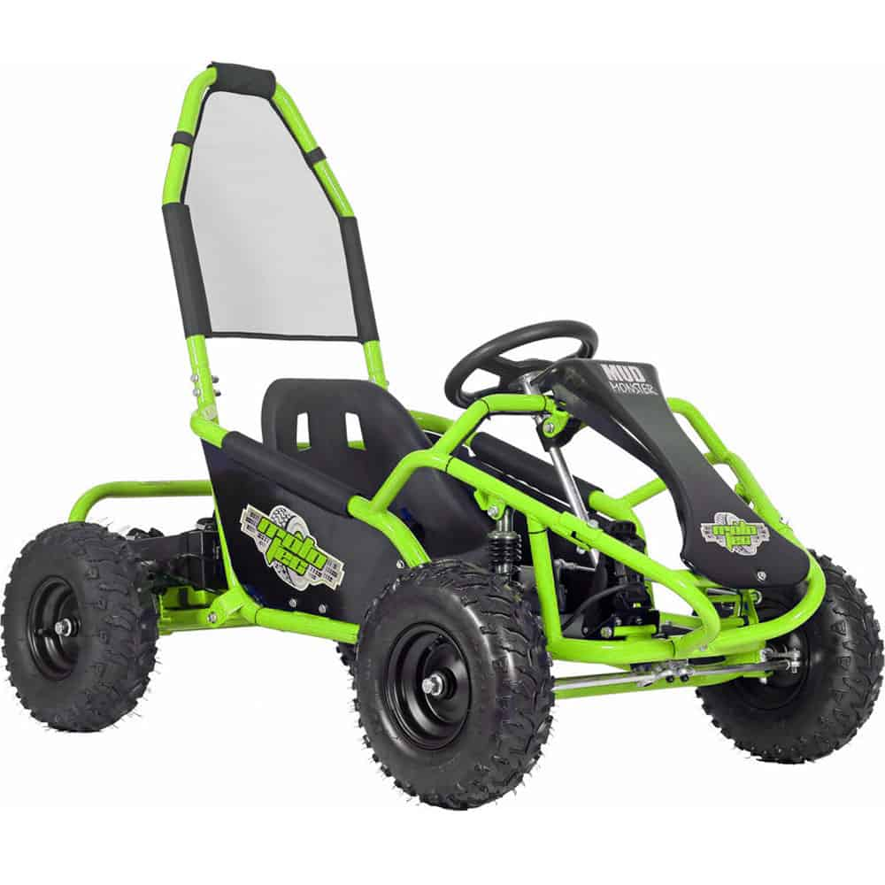 MotoTec Mud Monster Kids Gas Powered 98cc Go Kart Full Suspension Green_2