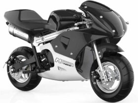 MotoTec Phantom Gas Pocket Bike 49cc 2-Stroke Black