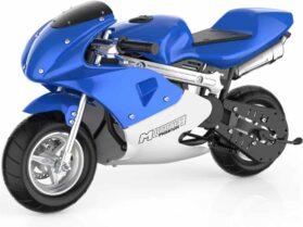 MotoTec Phantom Gas Pocket Bike 49cc 2-Stroke Blue_2