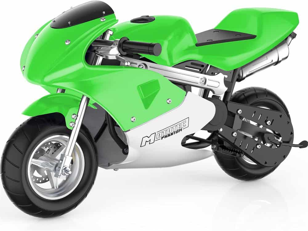 MotoTec Phantom Gas Pocket Bike 49cc 2-Stroke Green_2