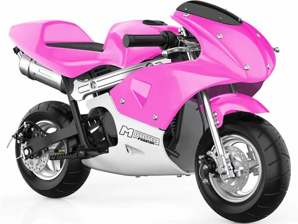 MotoTec Phantom Gas Pocket Bike 49cc 2-Stroke Pink