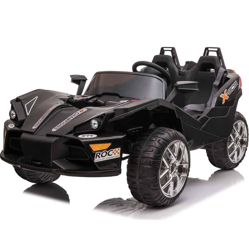 MotoTec Slingshot 12v Kids Car Black (2.4ghz RC)