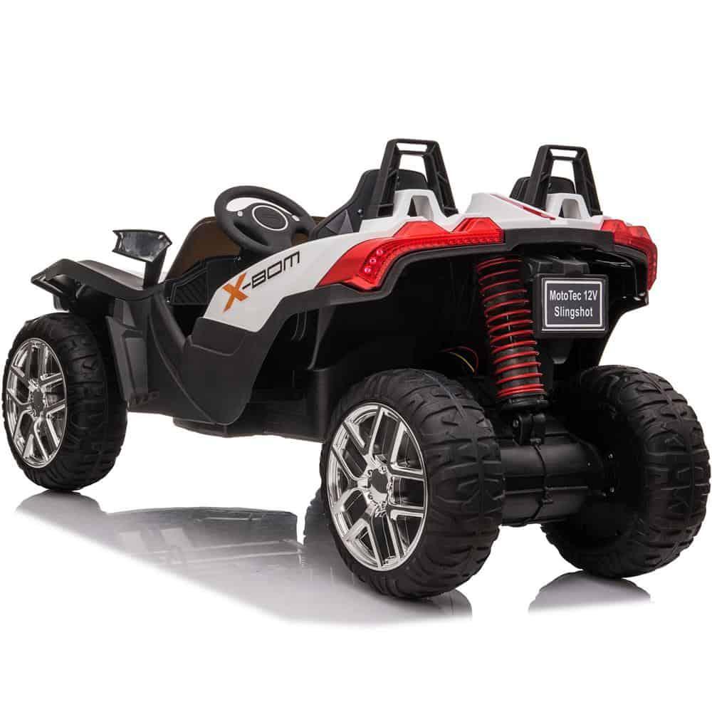 MotoTec Slingshot 12v Kids Car White (2.4ghz RC)_2
