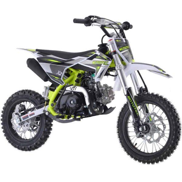 MotoTec X2 110cc 4-Stroke Gas Dirt Bike Green