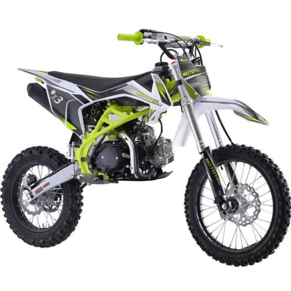 MotoTec X3 125cc 4-Stroke Gas Dirt Bike Green