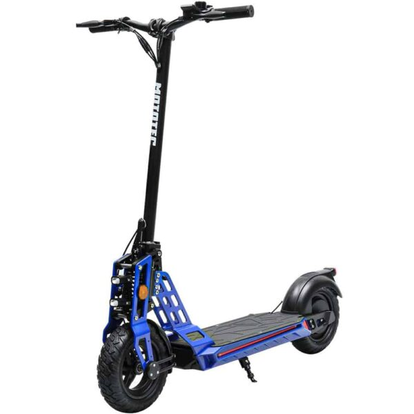 MotoTec Free Ride 48v 600w Lithium Electric Scooter Blue