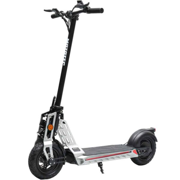 MotoTec Free Ride 48v 600w Lithium Electric Scooter Silver