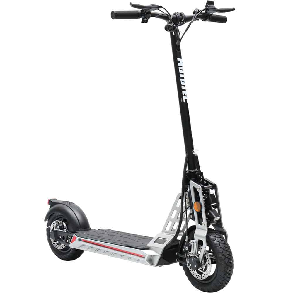 MotoTec Free Ride 48v 600w Lithium Electric Scooter Silver_2