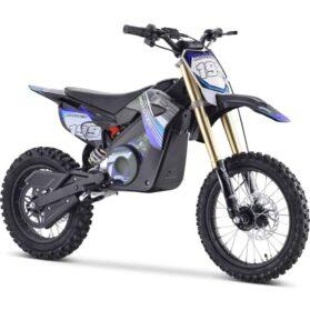 MotoTec 48v Pro Electric Dirt Bike 1500w Lithium Blue