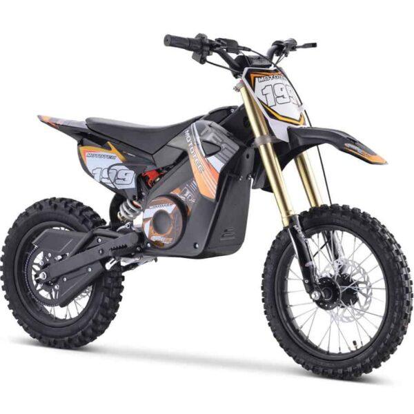 MotoTec 48v Pro Electric Dirt Bike 1500w Lithium Orange