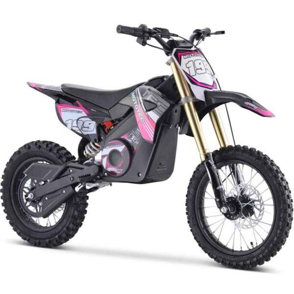 MotoTec 48v Pro Electric Dirt Bike 1500w Lithium Pink