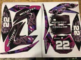 MotoTec 50cc Demon Purple Sticker Kit