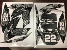 MotoTec 50cc Demon White Sticker Kit