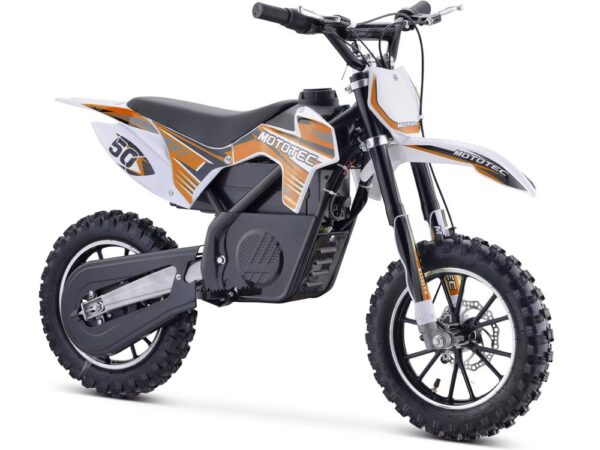 MotoTec 24v 500w Gazella Electric Dirt Bike Orange