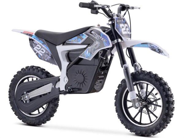 MotoTec 36v 500w Demon Electric Dirt Bike Lithium Blue