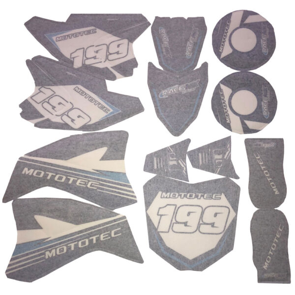 MotoTec 36v Pro Dirt Bike Sticker Kit-Blue
