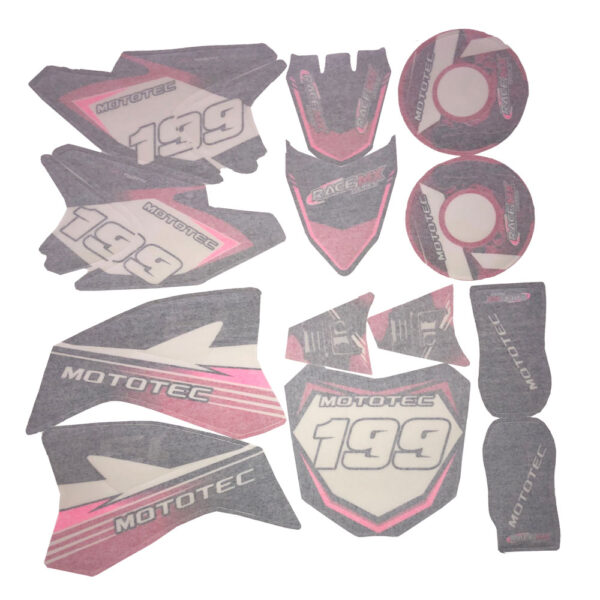MotoTec 36v Pro Dirt Bike Sticker Kit-Pink