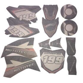 MotoTec 36v Pro Dirt Bike Sticker Kit-orange