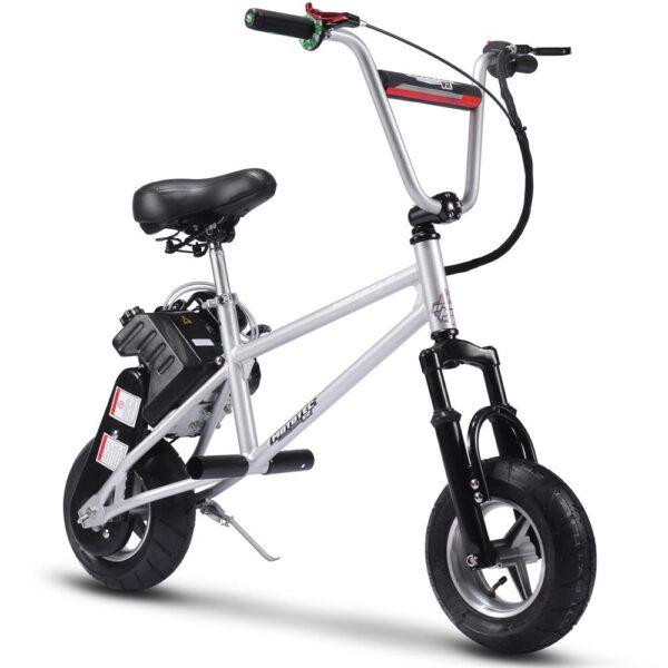 MotoTec 49cc Gas Mini Bike V2 Silver