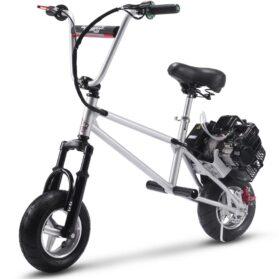 MotoTec 49cc Gas Mini Bike V2 Silver_6