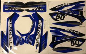 MotoTec Dirt Bike Gazzela Sticker Kit Blue