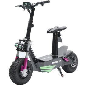 MotoTec Mars 48v 2500w Electric Scooter Black_2