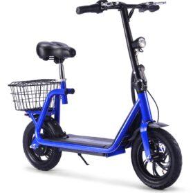 MotoTec Metro 36v 350w Lithium Electric Scooter Blue