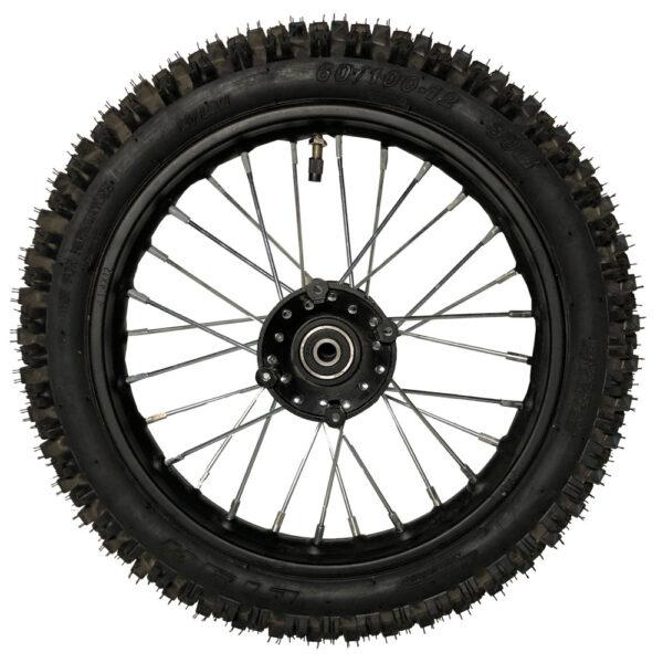 MotoTec Pro Dirt Bike Front Wheel with Rim 60/100-12