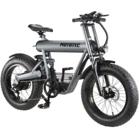 MotoTec Roadster 48v 500w Lithium Electric Bicycle Grey