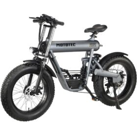 MotoTec Roadster 48v 500w Lithium Electric Bicycle Grey_4