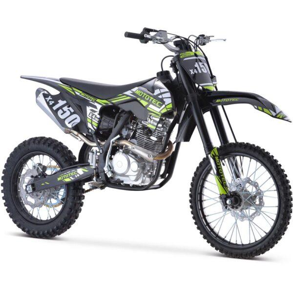 MotoTec X4 150cc 4-Stroke Gas Dirt Bike Black